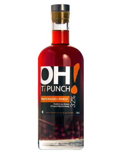 Bouteille Oh! Ti Punch - Fruits rouges Piment
